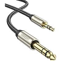 UGREEN オーディオ変換ケーブル 3.5mmミニプラグ to 6.35mm標準プラグ オス-オス ステレオケーブル…