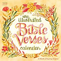 Illustrated Bible Verses Calendar 2018 [12 x 12 Inches] [並行輸入品]
