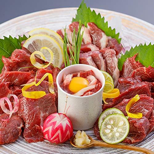 馬刺し 国産熊本 4種 食べ比べ さくらセット 450g 9人前 赤身 ユッケ ヒレ ふたえご 熊本 馬肉 冷凍 小分け