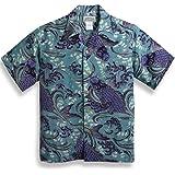 MAKANALEI(マカナレイ) アロハシャツ【跳鯉】AMT-039/SAX