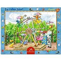 楽しいフェアフレームパズルのフレンドリーな7 24枚、37 x 29 cm、モデル#11913