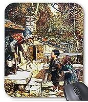 アーサー・ラッカム『 ヘンゼルとグレーテル 』のマウスパッド:フォトパッド(世界の名画シリーズ)