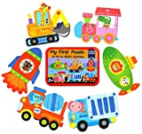 子供向けジグソーパズル 3+4+5+6ピース 6つの絵柄 幼児 脳活性化 おもちゃ 知育パズル (乗物シリーズ)