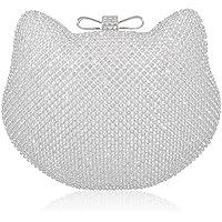 Mossmon Crystal Clutch Cat Shape Luxury Rhinestone Women Evening Bag