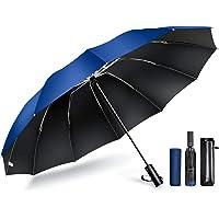 【2021最新 12本骨 & 逆折り式】 折りたたみ傘 ワンタッチ 自動開閉 メンズ傘 大きい 耐風 撥水 晴雨兼用 男…