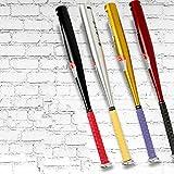 GOOACC 少年 アルミ合金製 軽量 野球 金属 バット ジュニア 子供用 61-81cm (ブラック, 25インチ)