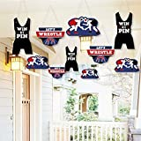 Hanging Own The Mat - Wrestling - Outdoor Hanging Decor - Birthday Party or Wrestler Party Decorations - 10 Pieces [並行輸入品]