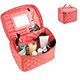 EN'DA big size Nylon Cosmetic bag with quality zipper single layer travel Makeup bags (Watermelon Red)