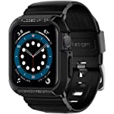 Spigen Rugged Armor Pro Compatible with Apple Watch Band with Case for 44mm Series 6/SE/5/4 - Black