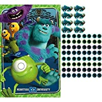 Amscan Monster-Mazing Disney Monsters University Birthday Party Game (4 Piece) Multicolor 25 x 37 [並行輸入品]