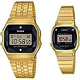 [カシオ] 腕時計 スタンダード ペアセット 天然ダイヤモンド付 A159WGED-1JF / LA670WGAD-1J…