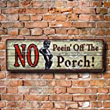 ティンプレート(S) / NO Peein'  Off The Porch !「立ちションすんな!」ってしょんべん小僧がちょっと可愛い看板