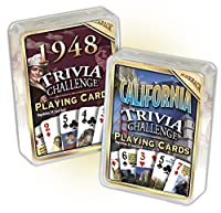 1948 Trivia Playing Cards &カリフォルニアTriviaカードコンボ