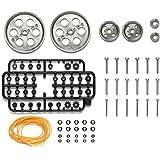タミヤ 楽しい工作シリーズ 特別企画商品 プーリー (L)セット メタリックグレイ 69924