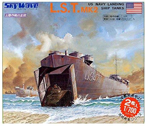 ピットロード 1/700 スカイウェーブシリーズ アメリカ軍戦車 車輌用 大型揚陸艦 L・S・T プラモデル SW04