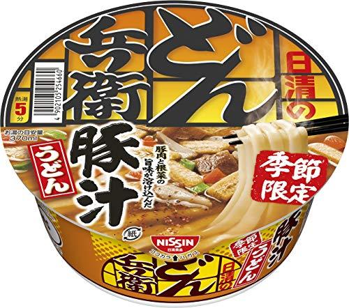 日清のどん兵衛(豚汁うどん)の通販の画像