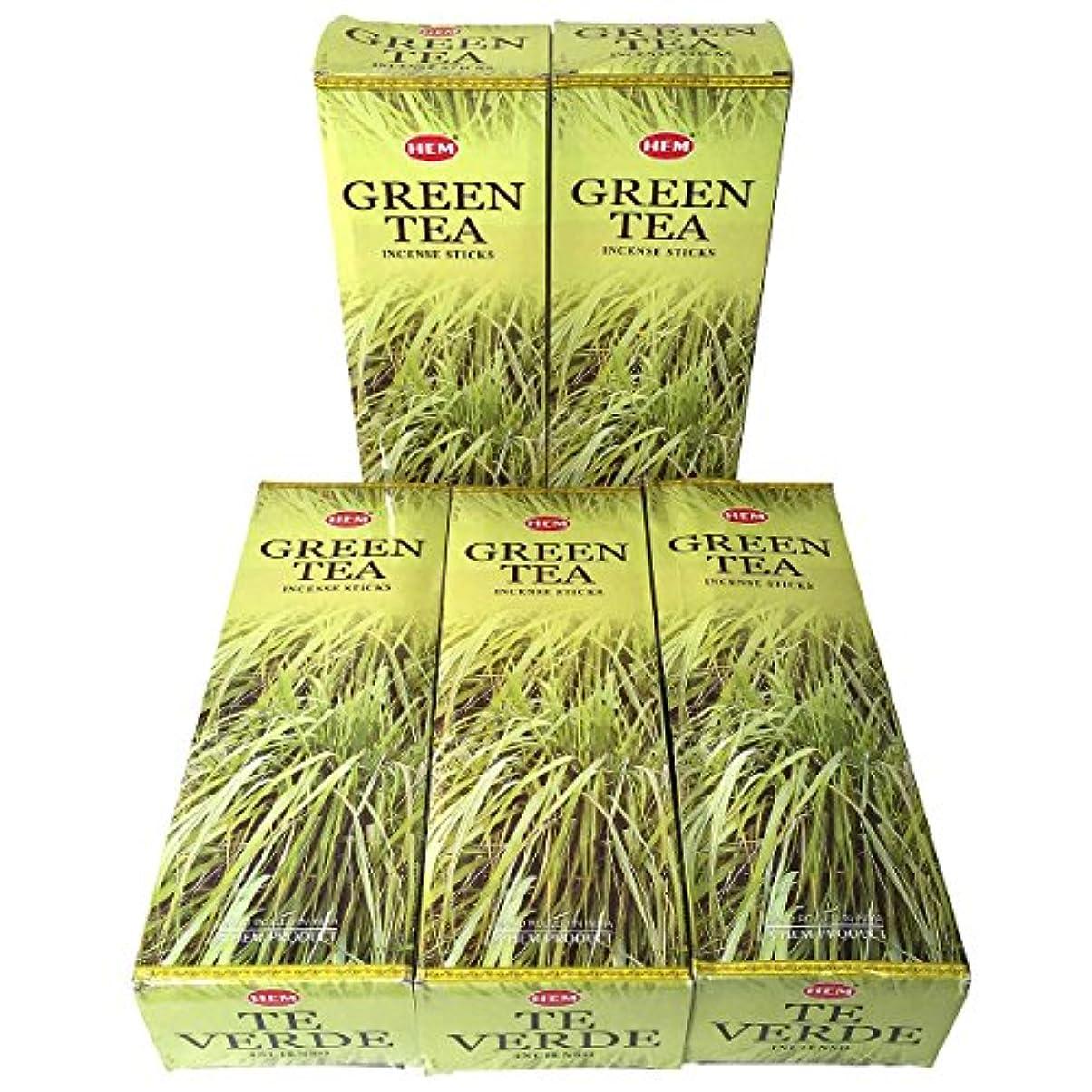 解読する仕える違反するHEM グリーンティー香 スティック 5BOX(30箱)/HEM Green Tea/ インド香 / 送料無料 [並行輸入品]