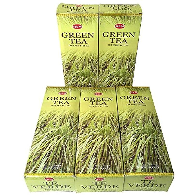 怒りちらつきびっくりするHEM グリーンティー香 スティック 5BOX(30箱)/HEM Green Tea/ インド香 / 送料無料 [並行輸入品]