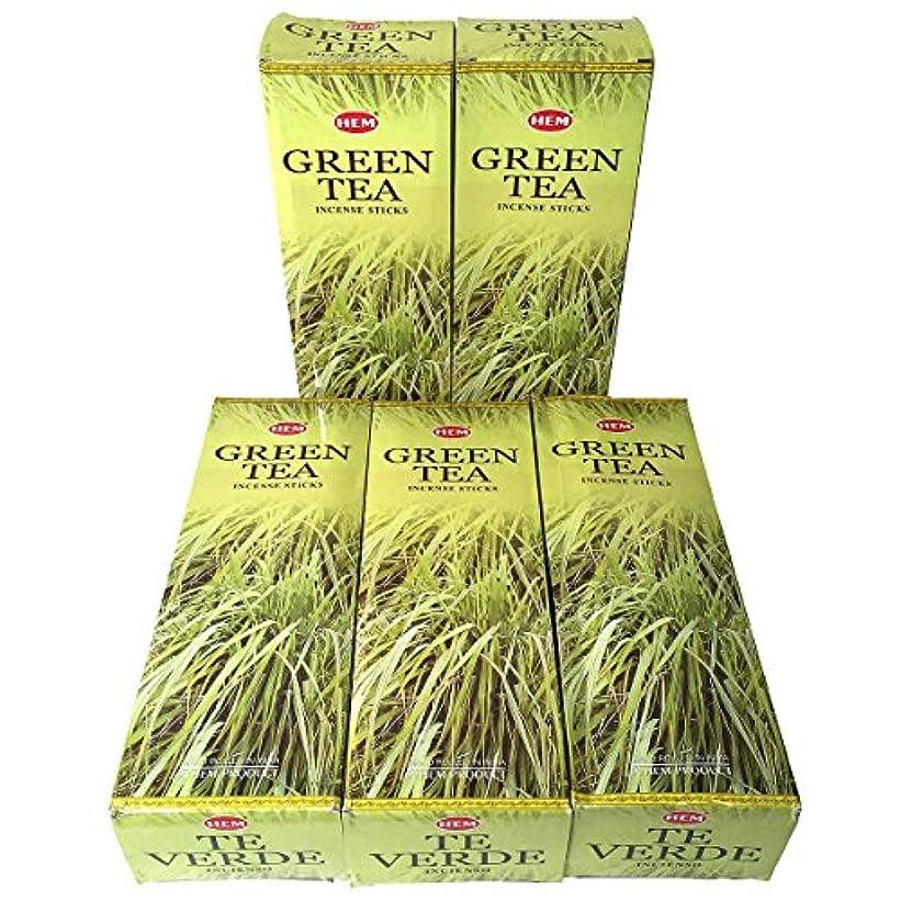 流出メディアボトルHEM グリーンティー香 スティック 5BOX(30箱)/HEM Green Tea/ インド香 / 送料無料 [並行輸入品]