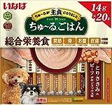いなばペットフード ドッグフード ちゅ~るごはん とりささみ&ビーフ チキンミックス味 14g×20本