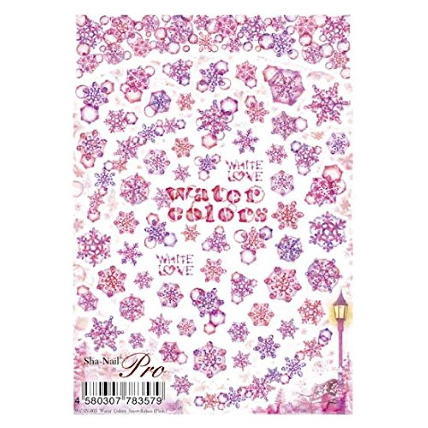 たまに曖昧な夢中写ネイルプロ 水彩 スノーフレイクス ピンク