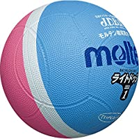 molten(モルテン) ライトドッジボール 軽量1号球 PSKサックス+ピンク SLD1PSK
