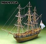 MT0792 マンチュア社 木製帆船模型キット プレジデント(60分の帆船模型製作入門DVDおよび資料集付属)