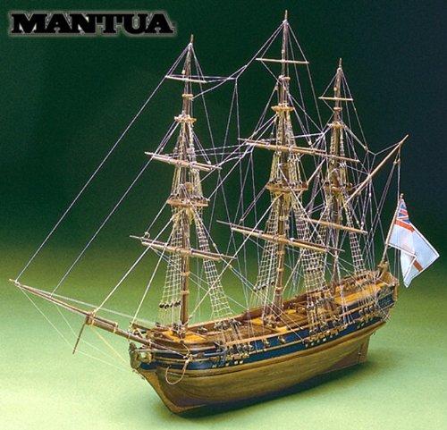 MT0792 マンチュア社 木製帆船模型キット プレジデント 60分の帆船模型製作入門DVDおよび資料集付属