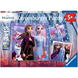 Ravensburger 05011 Disney Frozen 2 - The Journey Starts - 3 X 49 Piece Jigsaw Puzzles for Kids - Value Set of 3 Puzzles in a