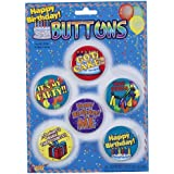 [フォーラム ノベルティ]Forum Novelties Happy Birthday Buttons, Set of 6 62738 [並行輸入品]