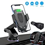 Wireless Car Charger Mount, FUNUSE Auto Clamping 7.5W /10W Fast Charging Qi Car Phone Holder Air Vent Dashboard...