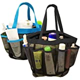 DanziX 2 Pack Portable Mesh Shower Caddy Quick Dry Shower Tote Bag Hanging Toiletry Bath Organizer with 8 Storage Compartment