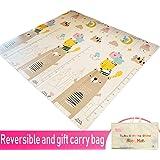 Infant Shining Baby Play mat, Playmat, Baby mat (200cm x 180cm) Extra Large Thick Foam Folding Crawling playmats Reversible W