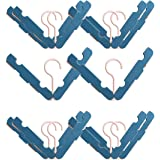 TIMEXING® Folding Hanger 10 Pack With Clip Non-Slip, Space Saver for Underwear Hangers Portable Travel