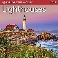 Lighthouses Mini Wall Calendar 2019 Monthly January-December 7 x 7 [並行輸入品]
