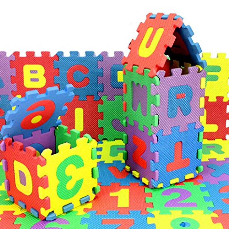 Hemlock 36ピース 赤ちゃん用パズル 幼児用フォーム数字アルファベットパズルおもちゃ Free size ldc126