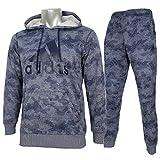 adidas アディダス カモ柄 ライトスウェット ジャケット パンツ 上下 DJP51 BR0992 DJP47 BR0988 ネイビー (M)