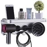 Dyson Supersonic Hair Dryer Holder, Dyson Hair Dryer Bracket,For Dyson Hair Dryer Accessories Holder,punch-free Bathroom Shel