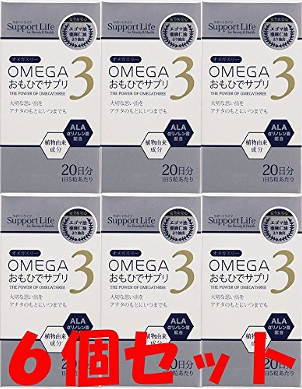運搬起訴する些細な【6個セット】オメガ3 おもひでサプリ 100粒