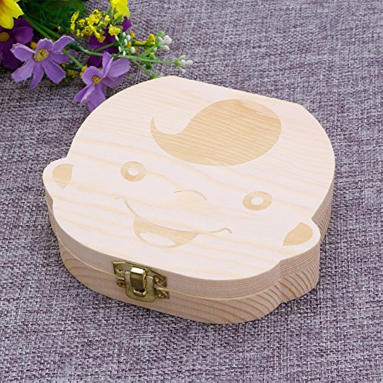 憂鬱と闘う楽観的SimpleLife Baby Teeth Save Box Organizer落ちる歯のコレクションストアのお土産ボックスケース、Boy&Girl、12.5x11.5x2.7cm