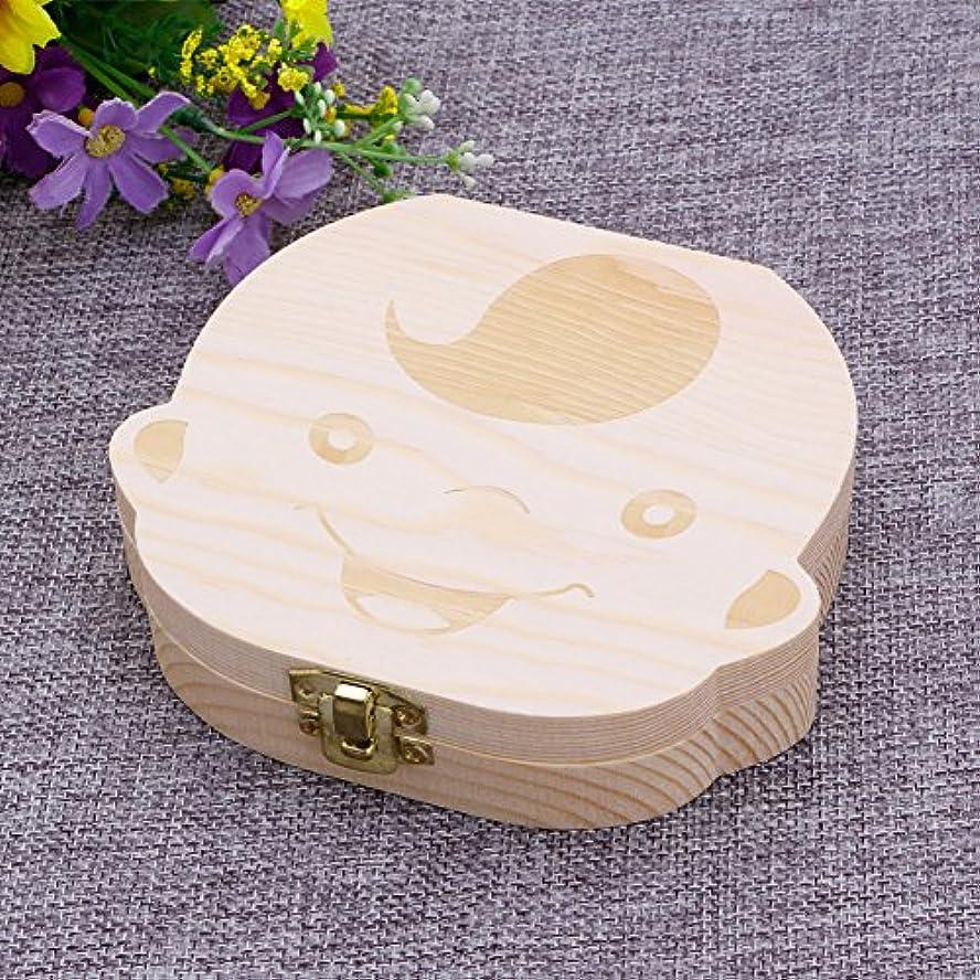 フィッティング大きさ文SimpleLife Baby Teeth Save Box Organizer落ちる歯のコレクションストアのお土産ボックスケース、Boy&Girl、12.5x11.5x2.7cm