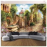 Wxmca 写真の壁紙ヨーロッパスタイルのストリート風景の壁画リビングルームの寝室の建物の背景の壁の装飾-280X200Cm