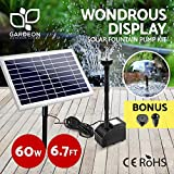 Solar Powered Water Pump | Gardeon Solar Pump Kit - 60W Solar Panel and Brushless DC Submersible Pump for Patio, Garden and Pond