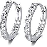 Huggie Earrings Small Hoop Earrings 925 Sterling Silver Huggie Hoop Earrings Hinged Mini Hoop Earrings Women