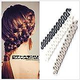 3Pcs (Black,Grey,White) Women Hair Styling Clip DIY French Hair Braiding Tool Roller Bun Maker Hairstyle Braid Tool Twist Pla