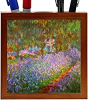 Rikki Knight Claude Monet Art Monet's Garden Design 5-Inch Wooden Tile Pen Holder (RK-PH3403) [並行輸入品]