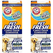 (1770ml) - Arm & Hammer Pet Fresh Carpet Odour Eliminator Plus Oxi Clean Dirt Fighters, 890ml (Pack of 2, 1770ml Total)