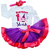 1st First Birthday Outfit Baby Girl Shark Tutu Outfit