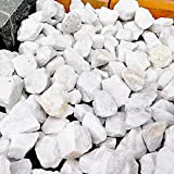 天然石 砕石砂利 3-4cm 20kg スノーホワイト (ガーデニングに最適 白色砂利)