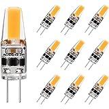 G4 LED Bulb 2W Equivalent to 20W T3 JC Type Bi-Pin G4 Base Halogen Bulb, AC/DC 12V Warm White 3000K G4 Bulb for Under Cabinet